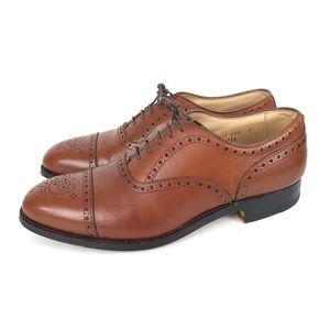 Alden 8 D Tan Cap Toe Oxford Balmoral Dress Shoes